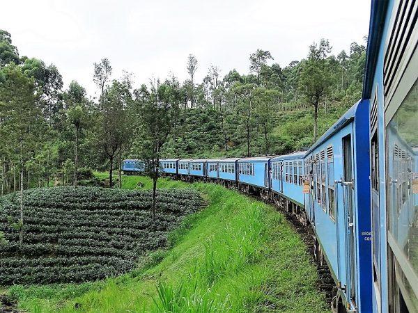 sri lanka op reis , treinreis