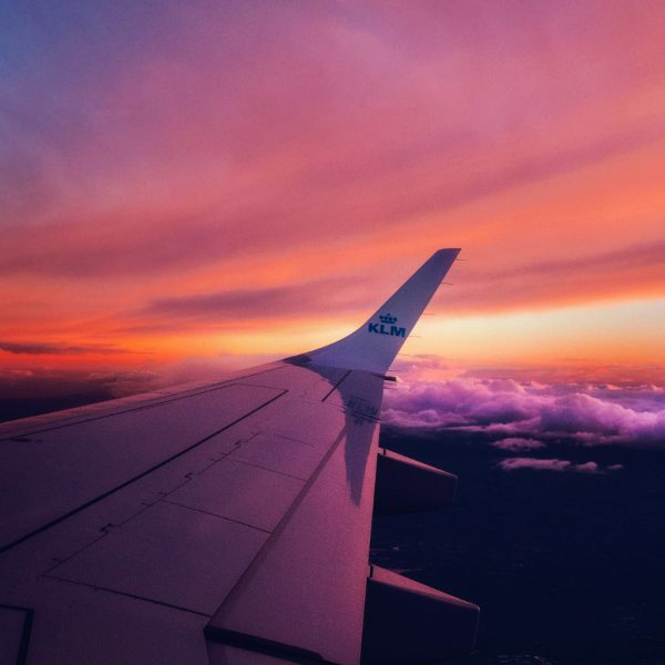 Sri Lanka op reis vliegtuigvleugel