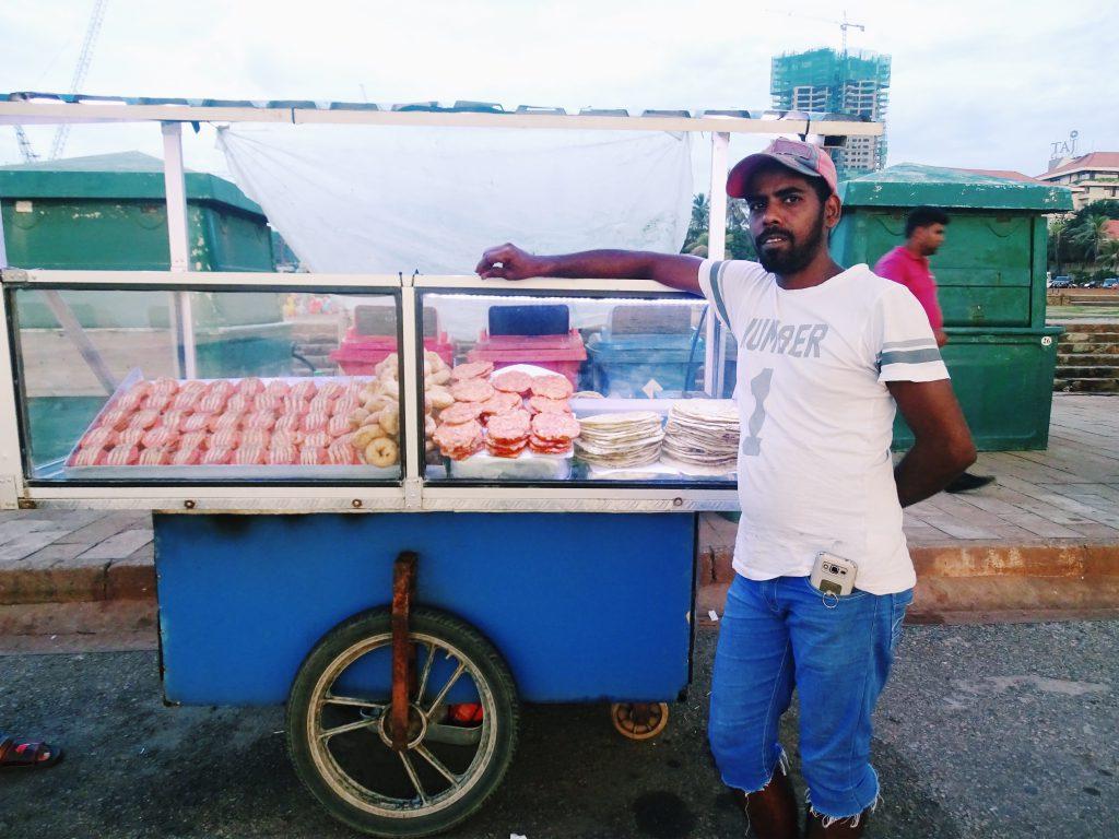 Sri Lanka op reis, streetfood Colombo