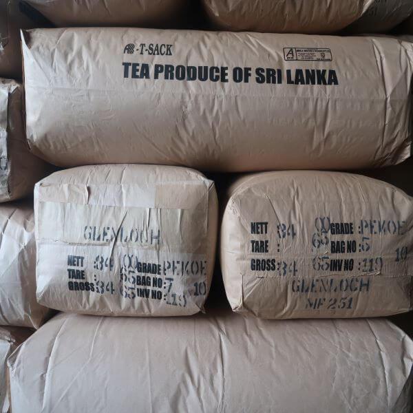 Ceylon thee in zakken