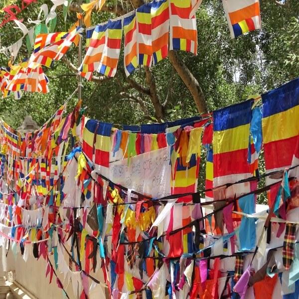 sri lanka boeddhistische vlaggenlijn