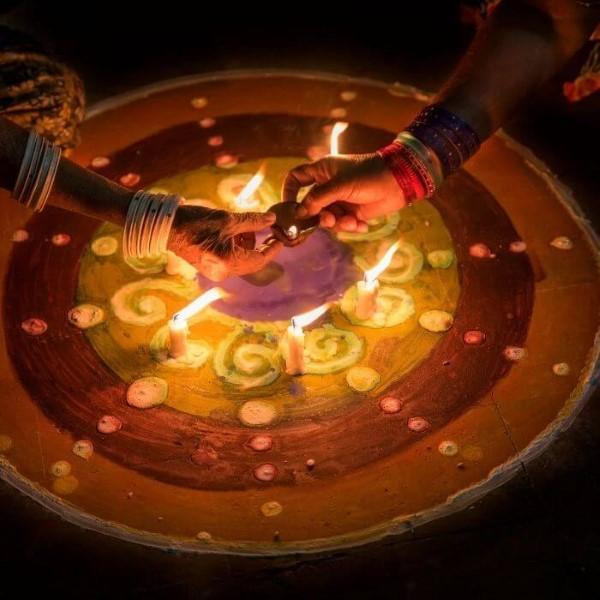 diwali lichtje op schaal sri lanka